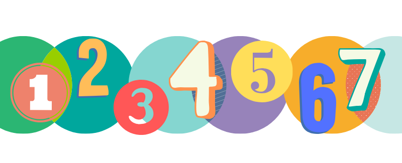 Email Marketing Image - Numbers 1 - 7 in Circles - Virtuance