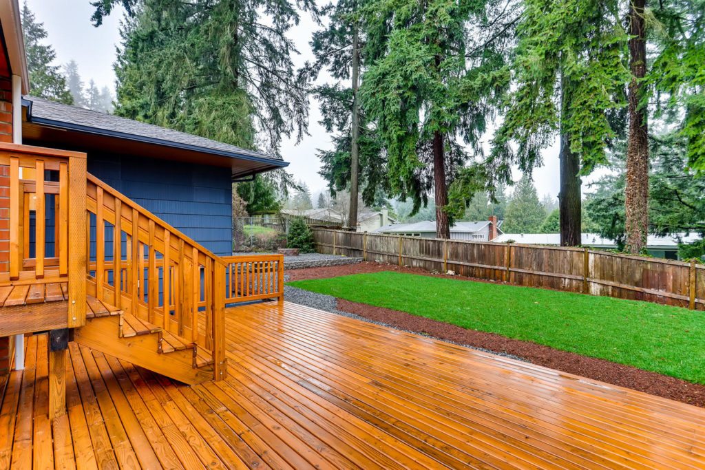 Back yard and deck real estate image