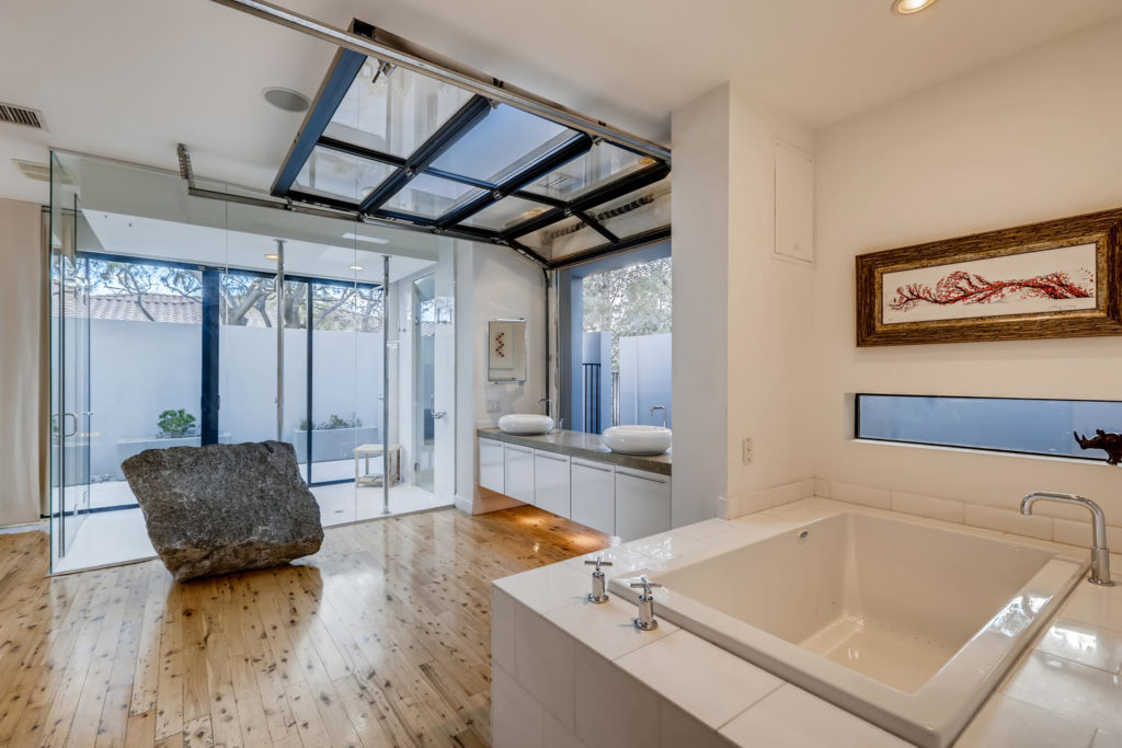 bathroom in modern luxury home