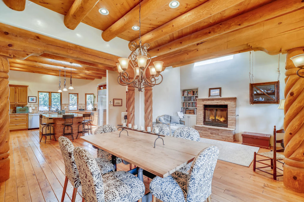 Dining room in southwestern home