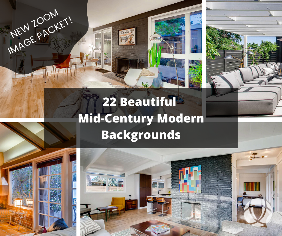 mid-century modern zoom backgrounds