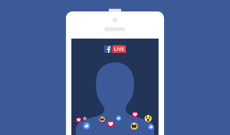Facebook live clipart