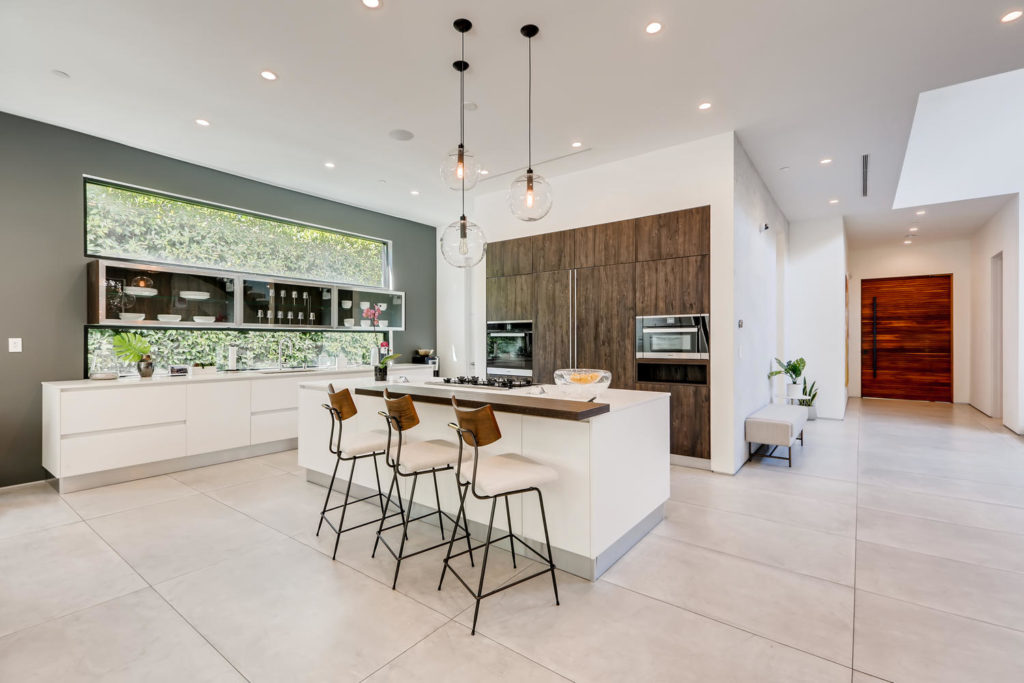 Kitchen with hidden appliances