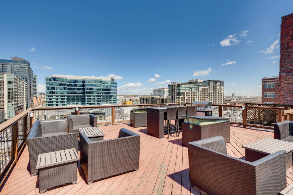 Rooftop deck in Denver