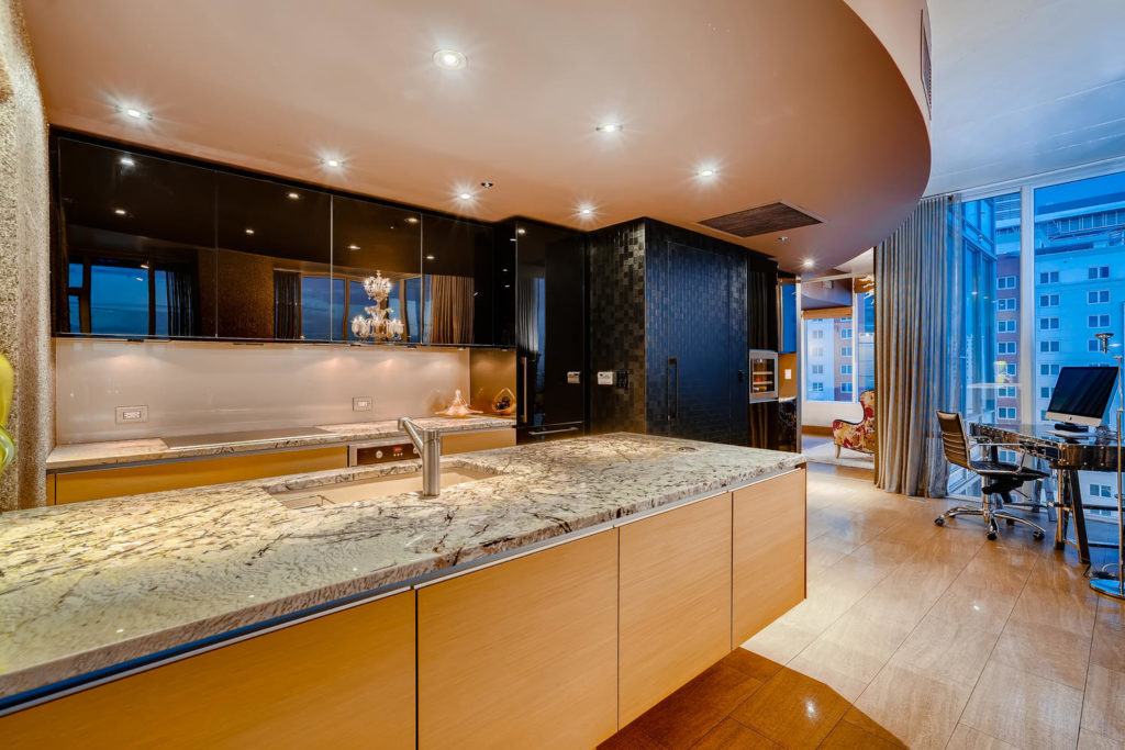 Kitchen in high rise condo