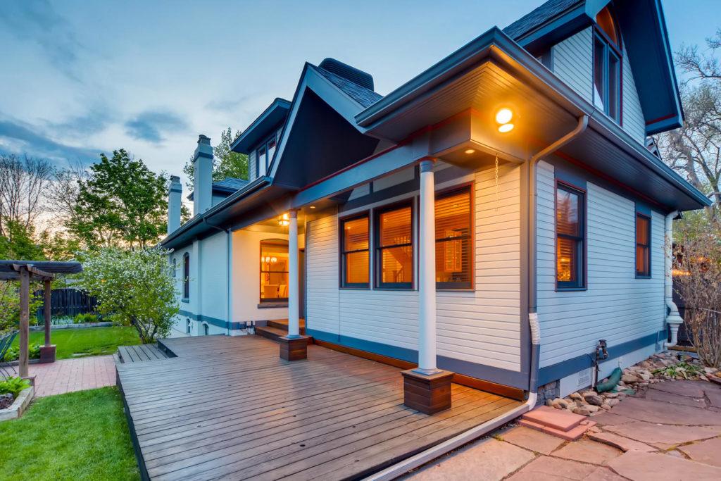 Back porch of a bungalow
