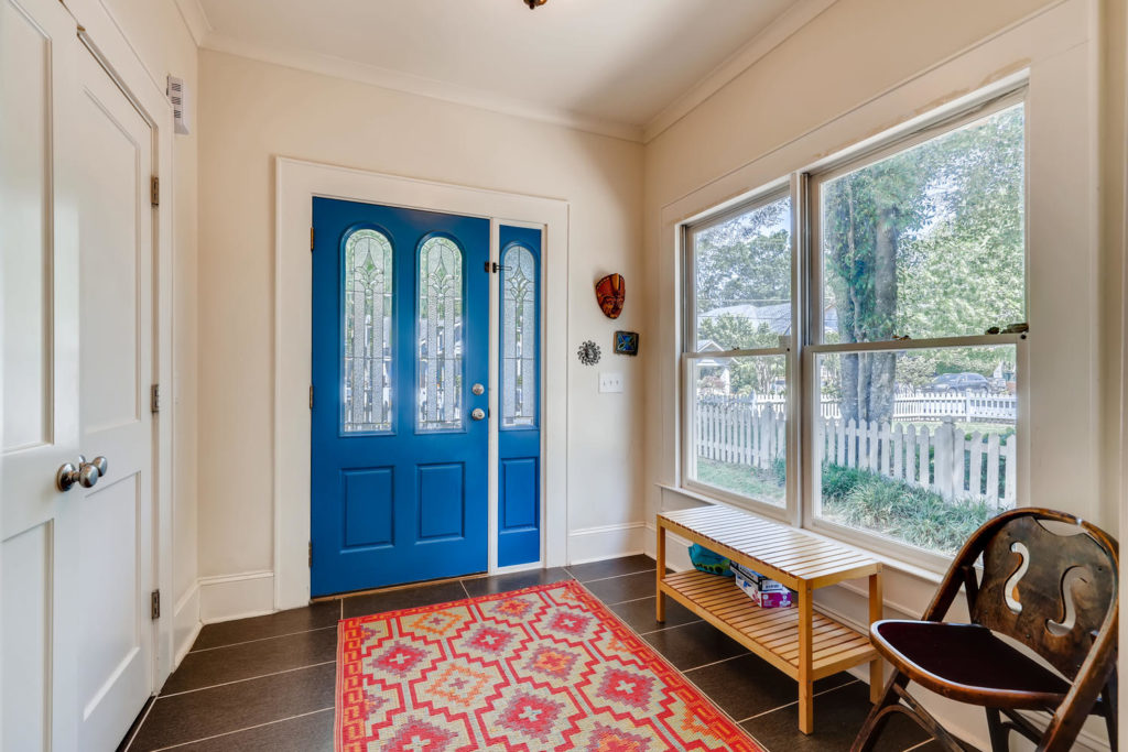 Atlanta home with blue door and foyer