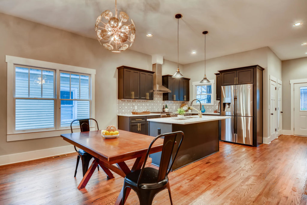 Atlanta kitchen with kitchen table and fun pendant light