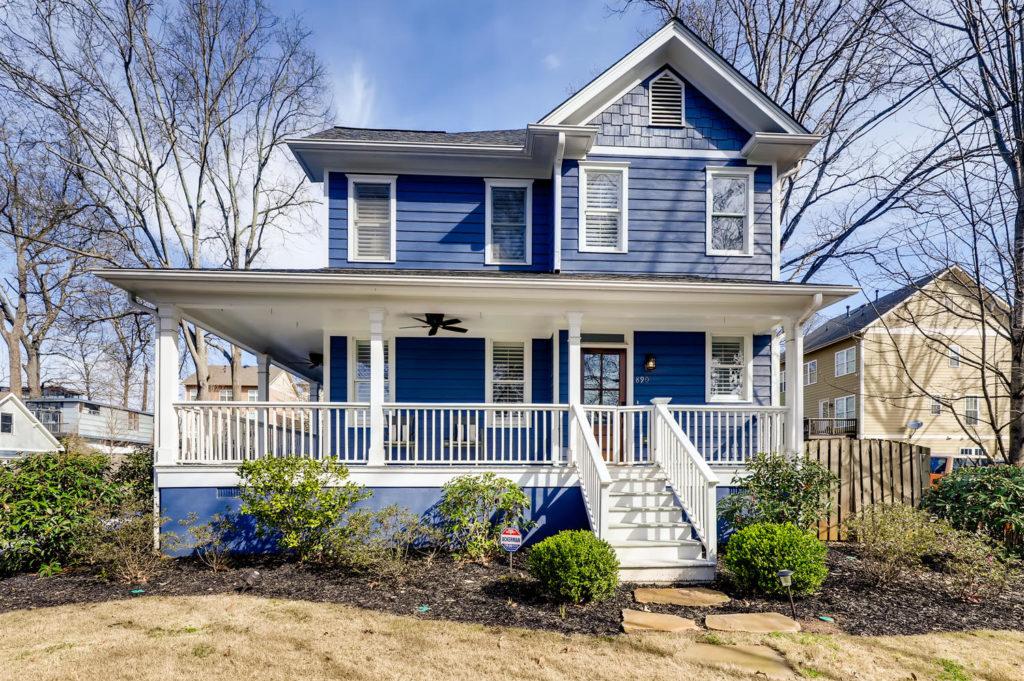 Blue house in Atlanta