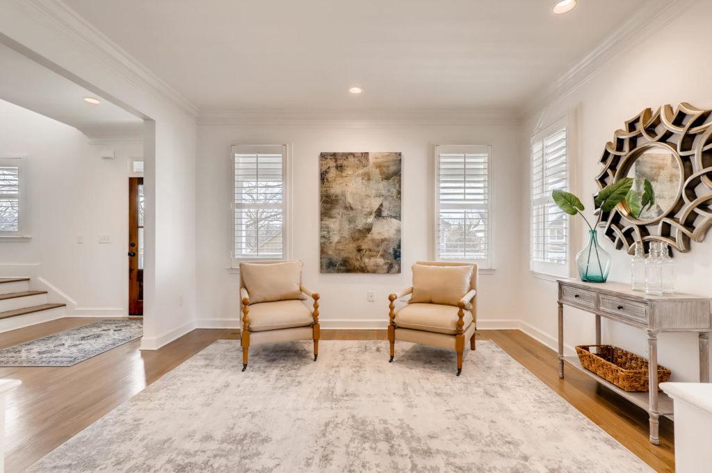 Living area in Atlanta Home
