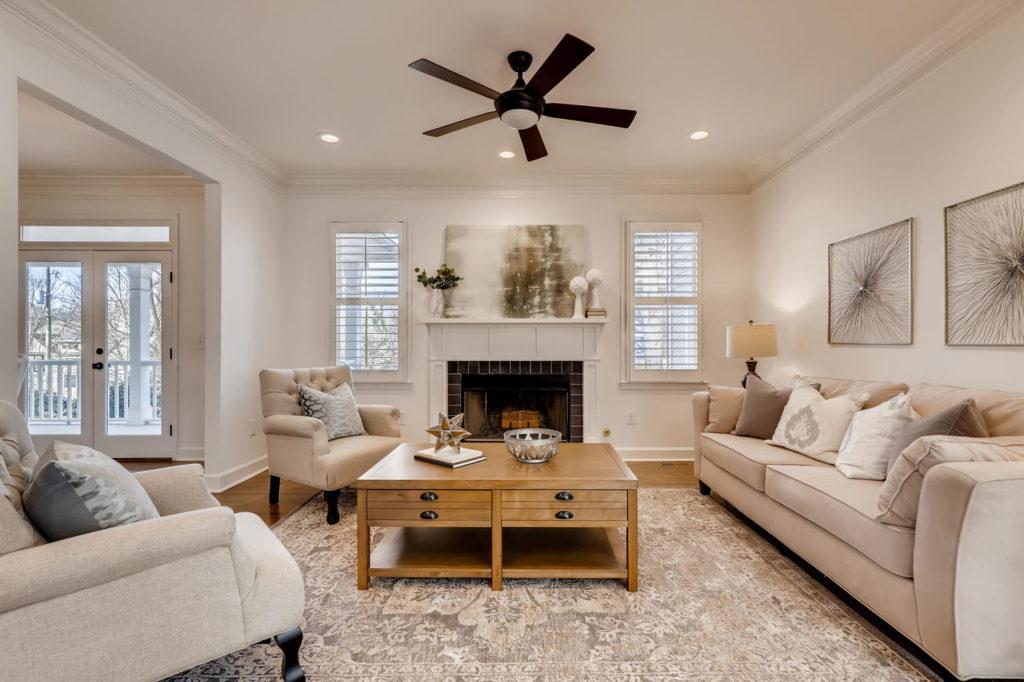 Living room in Atlanta real estate home