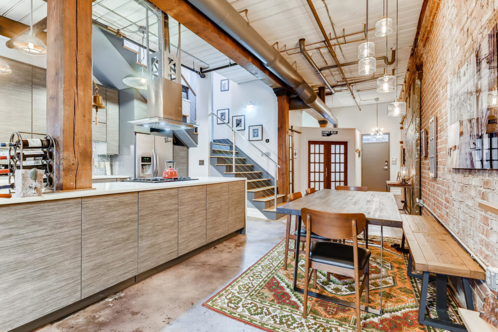 Industrial dining room in Atlanta