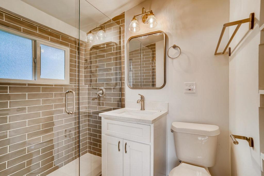 Modern bathroom in Denver home
