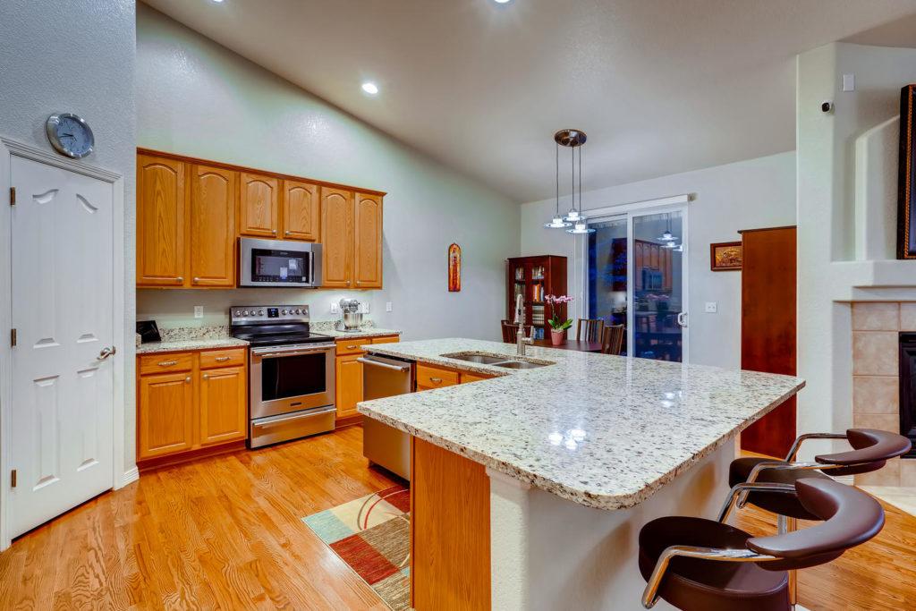Large kitchen in Denver home