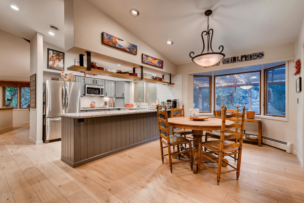kitchen and breakfast table real estate image in Denver