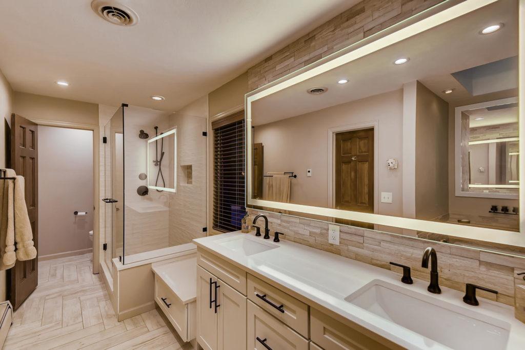 Modern bathroom real estate image in Denver