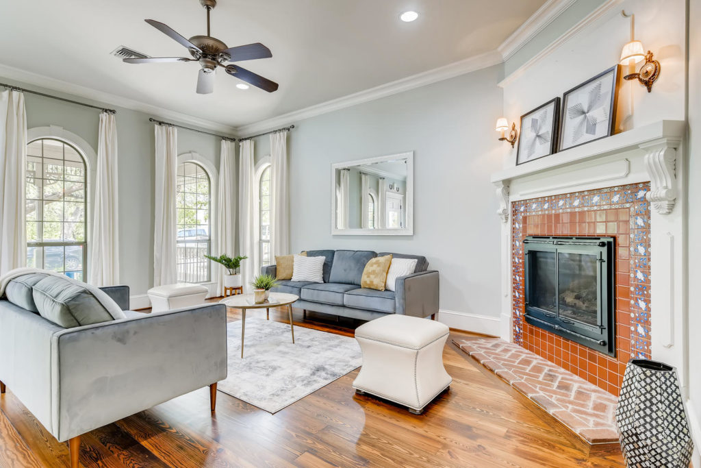 charming living room in Austin tx - real estate image