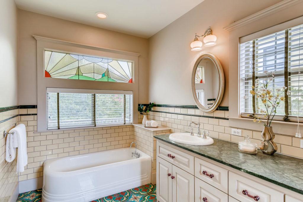 vintage bathroom - real estate image