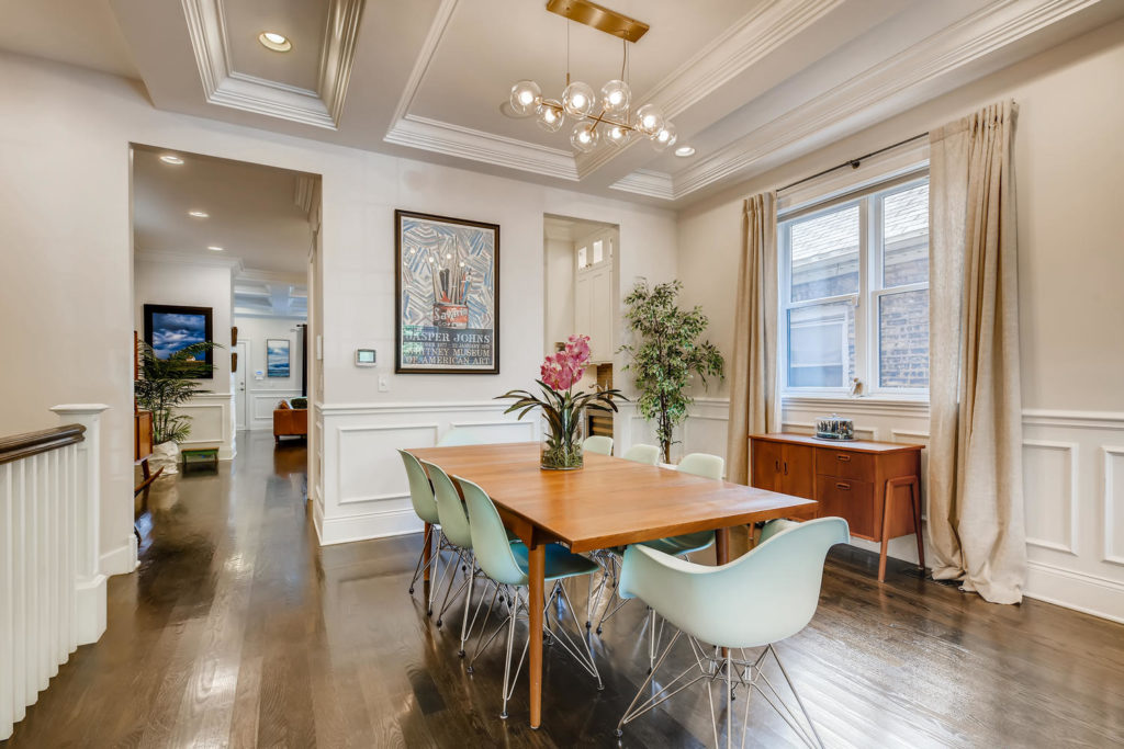 beautiful dining room - real estate image Chicago