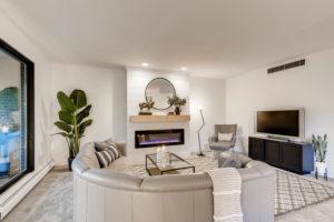 luxury living room - real estate image
