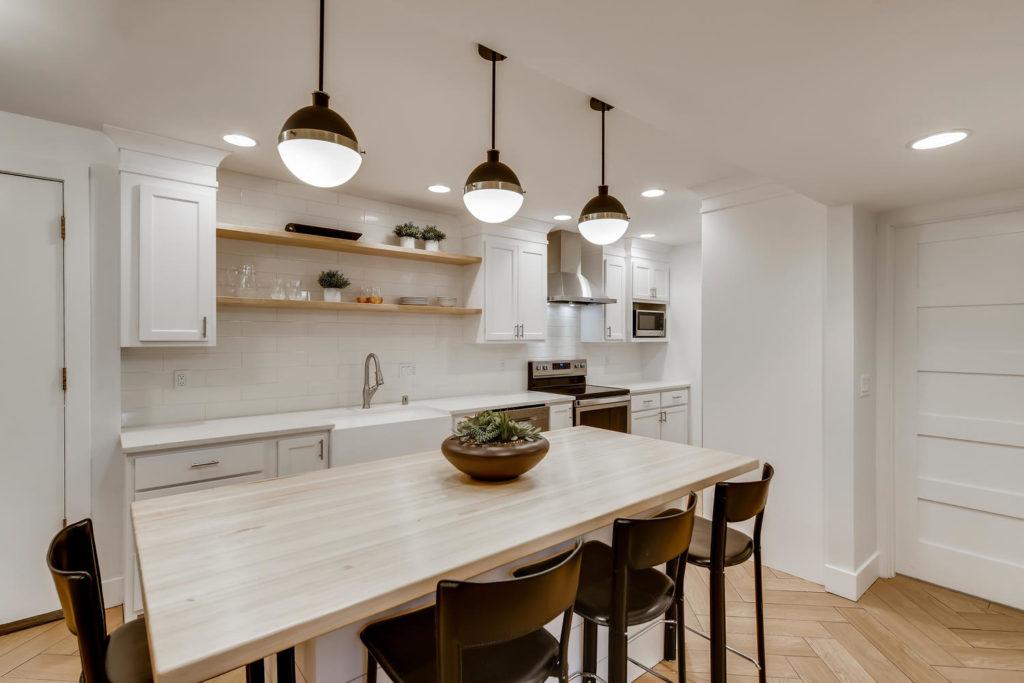 modern kitchen in condo - real estate image