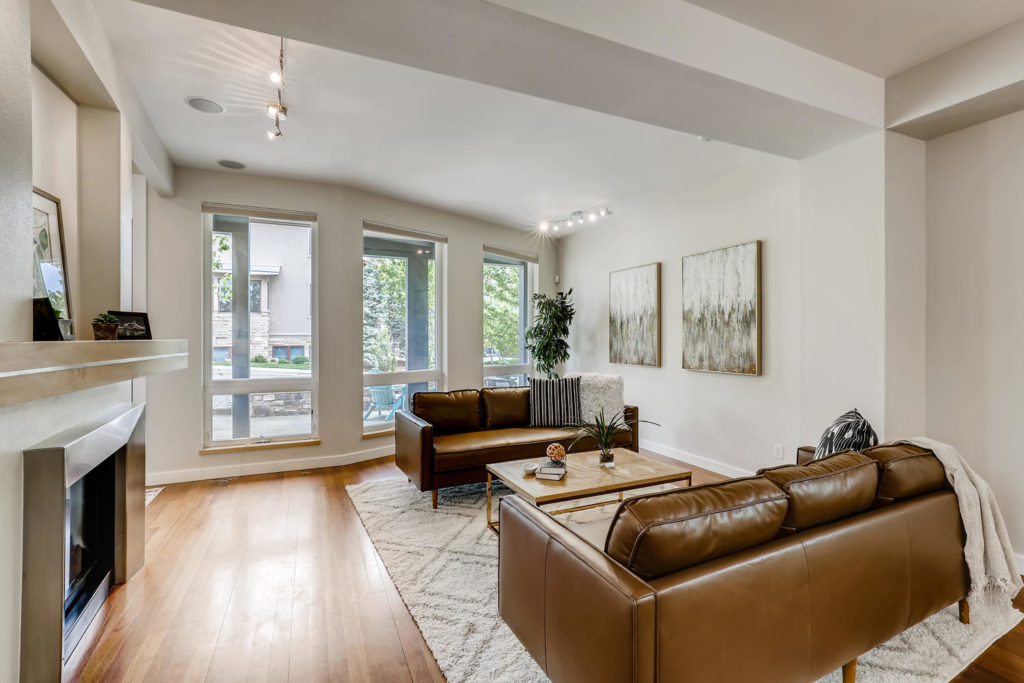 real estate photography - living room in Boulder