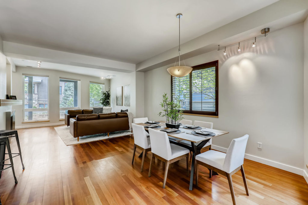real estate photography - dining room in boulder