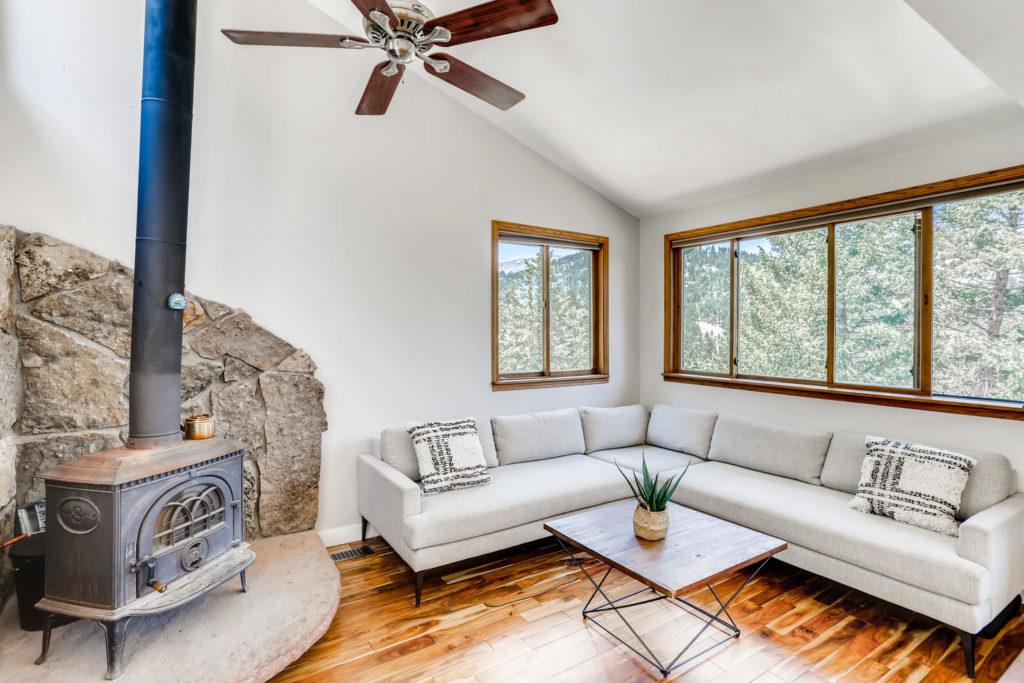 real estate photography - living room boulder