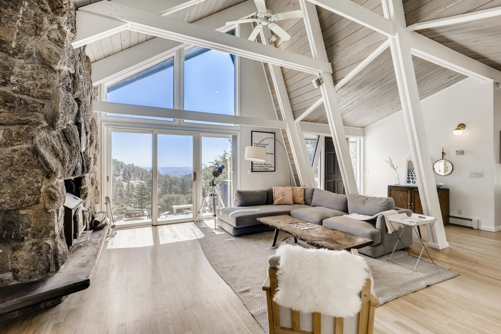 real estate photography - boulder living room mid-century modern