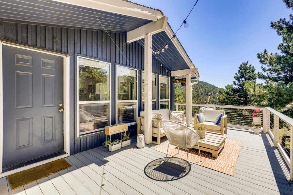 real estate photography - patio in boulder