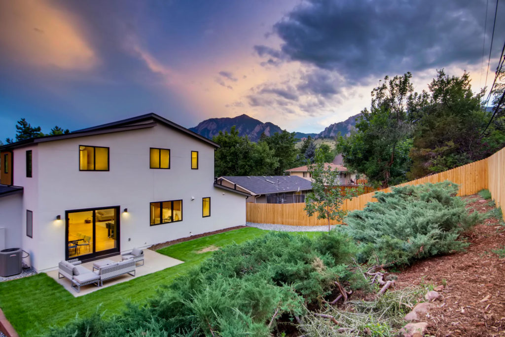 real estate photography - twilight photo in boulder