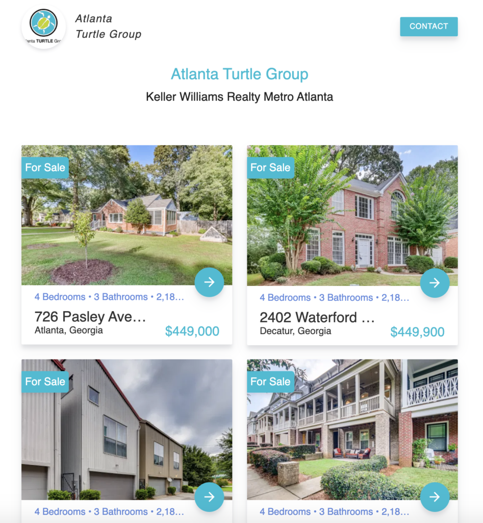 single listing site - view all listings page