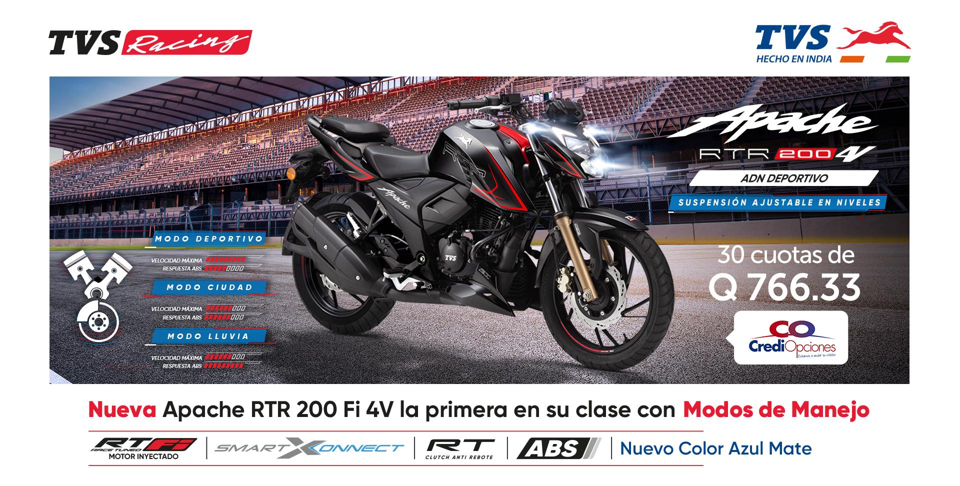 Nueva Apache RTR 200 4V