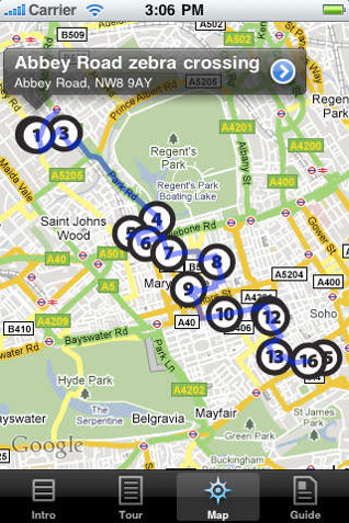 beatles london walking tour app