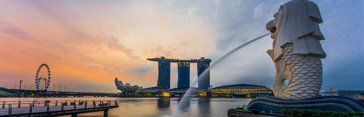 Civic district merlion