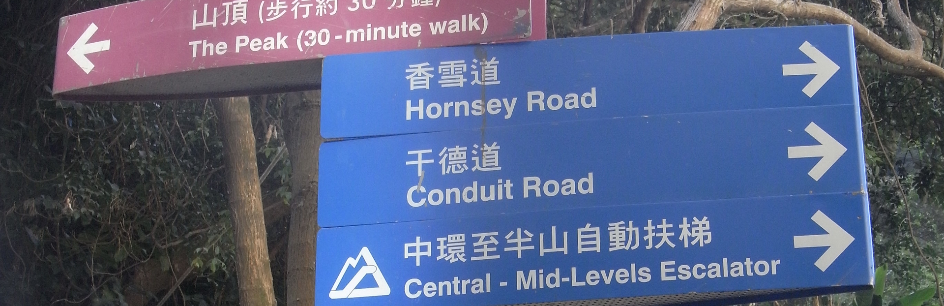 Hk mid levels      old peak road directory signs feb 2011 1