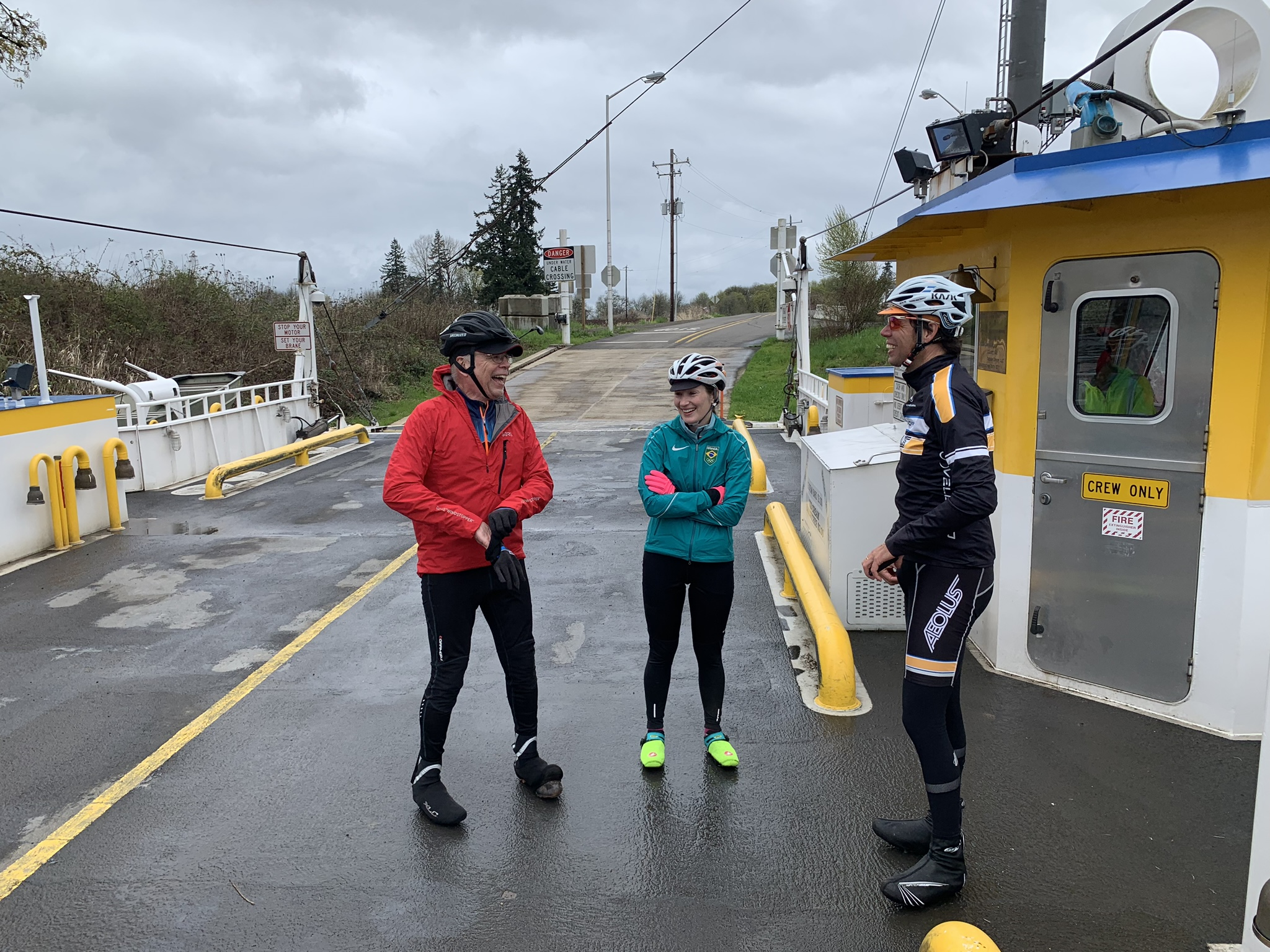 Peter Wendel at an MFC team ride with Gina Ambrose and Coach Kadir