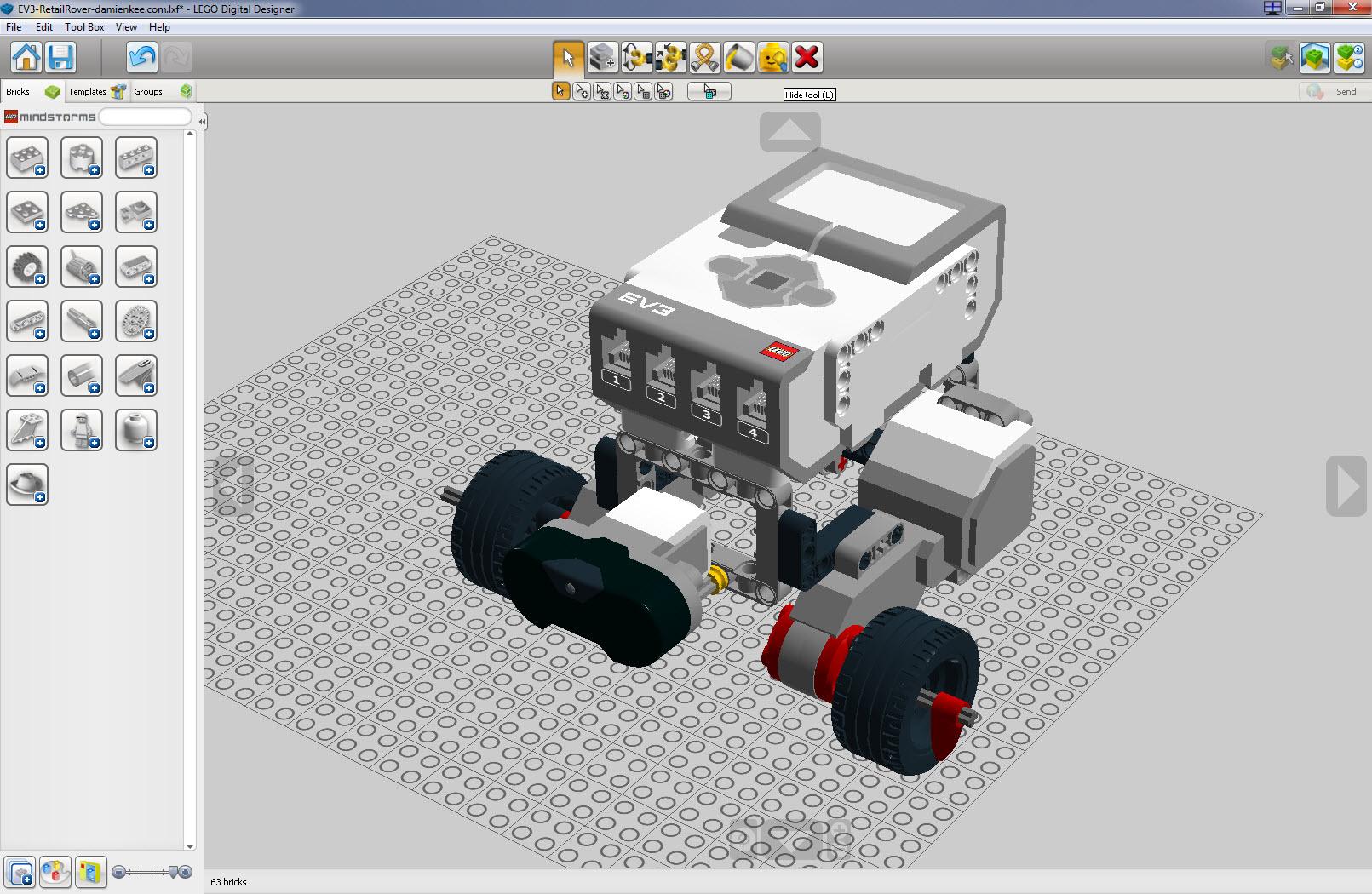 Introducing Lego Digital Designer Virtual Robotics Toolkit