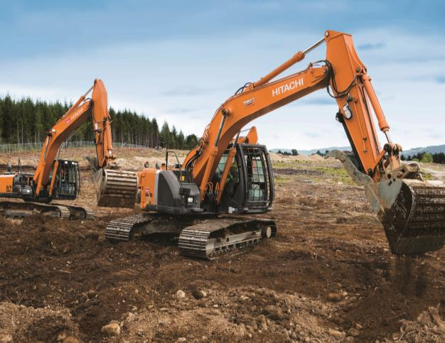 Hitachi Excavators - Triple T race track