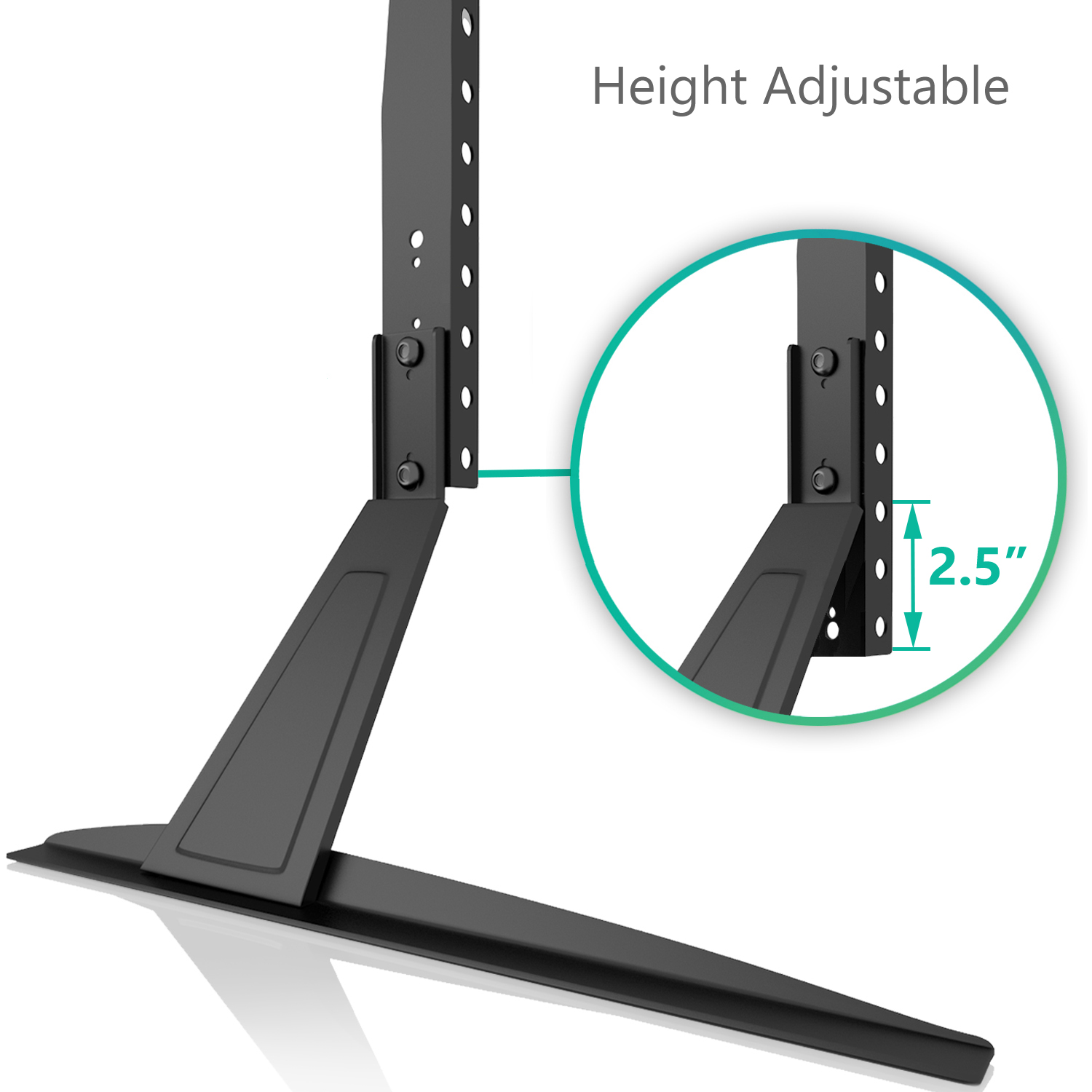 wali universal lcd flat screen tv table top stand base fits 27 to 55 tvs001 ebay. Black Bedroom Furniture Sets. Home Design Ideas