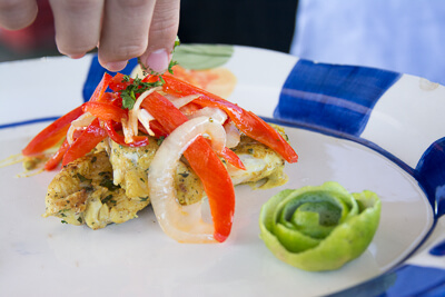 Image of a plate of ceviche