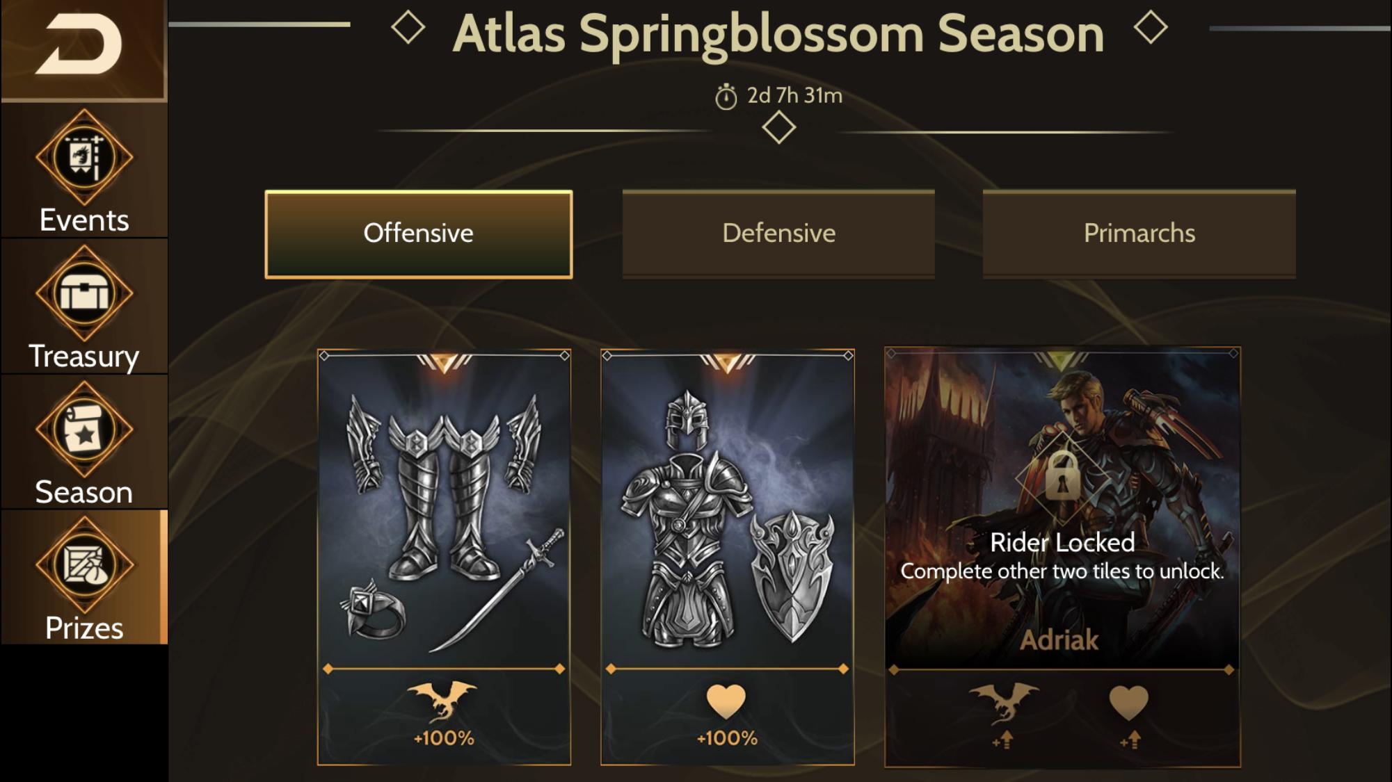 War Dragons - New Atlas Seasons Format, Adriak