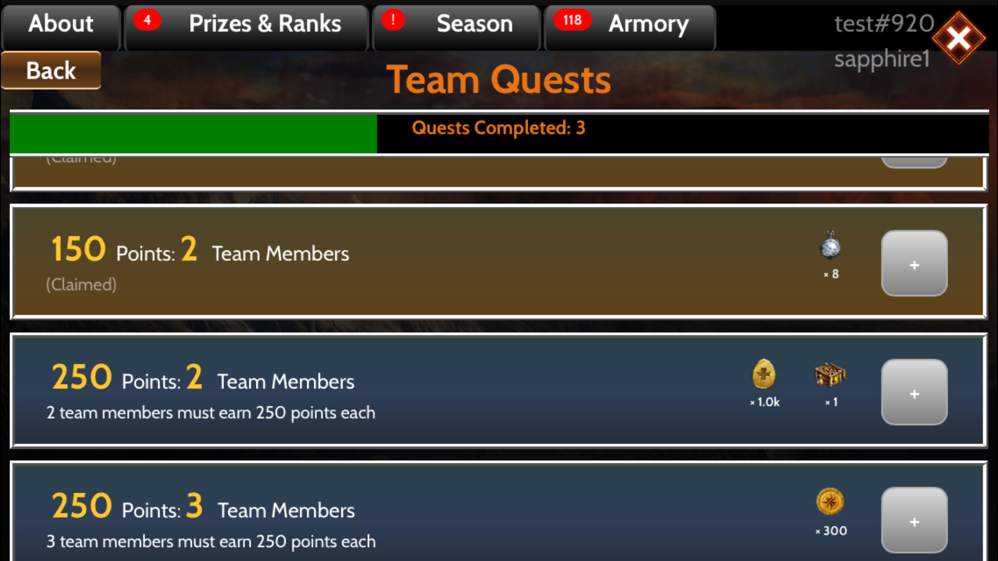 Team Quests