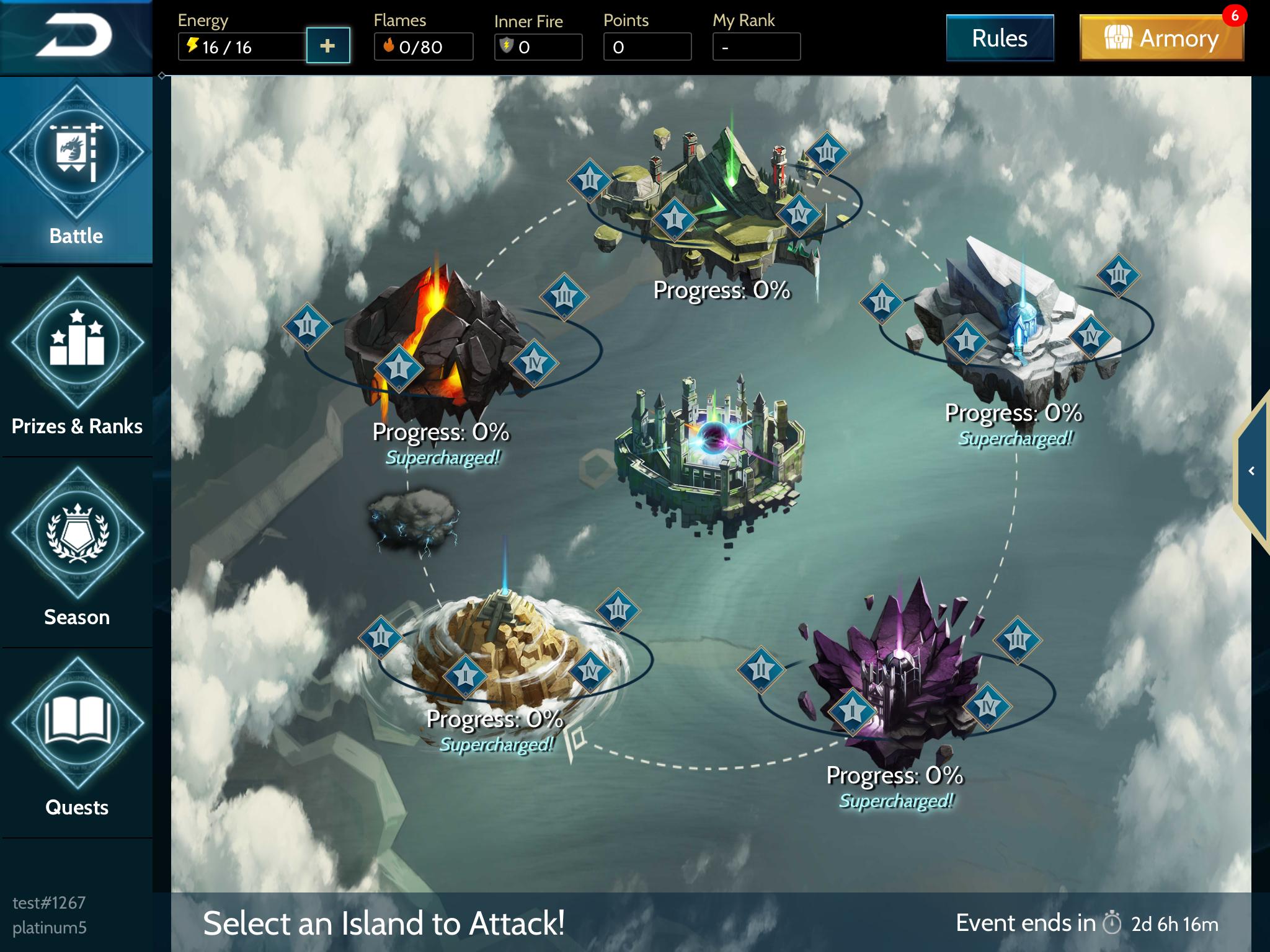 War Dragons - Main Event Screen