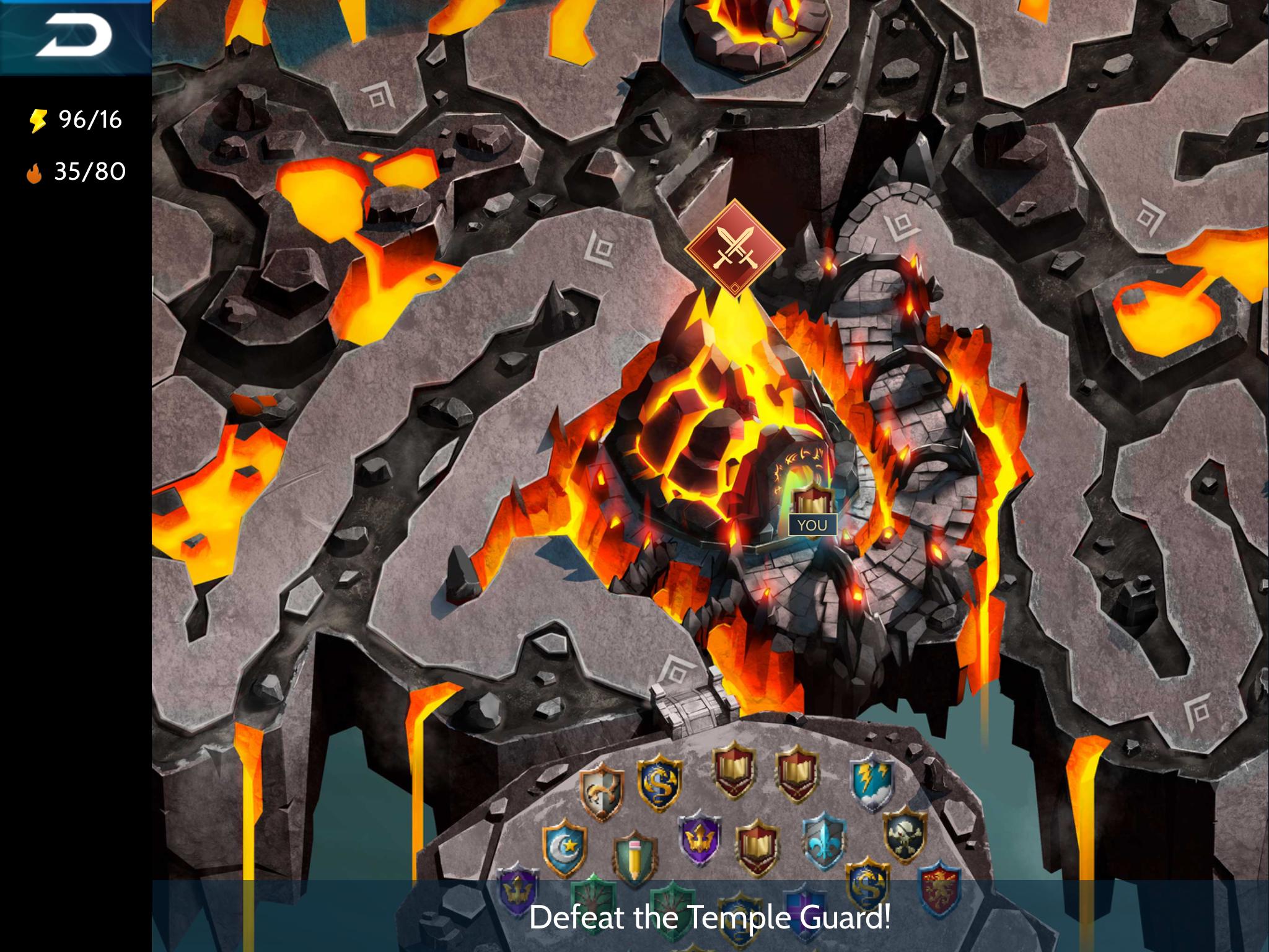Temple Raid - Temple Unlock Screen