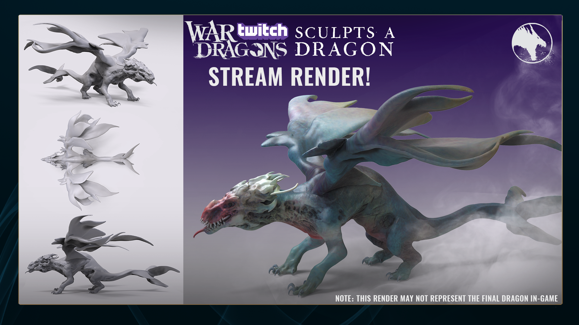 Twitch Sculpts a Dragon - Stream Render