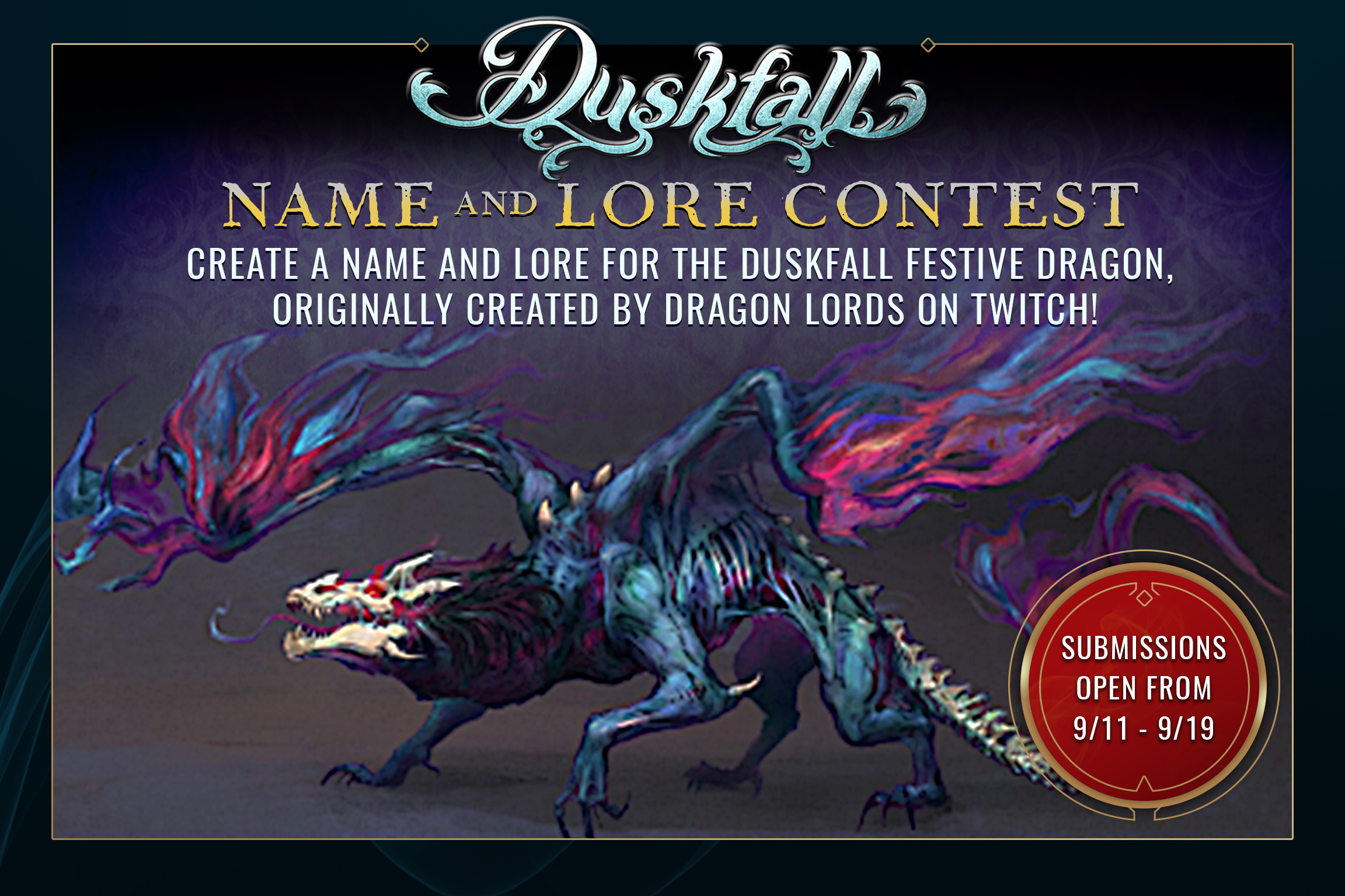Duskfall Festive Dragon - Name and Lore Contest
