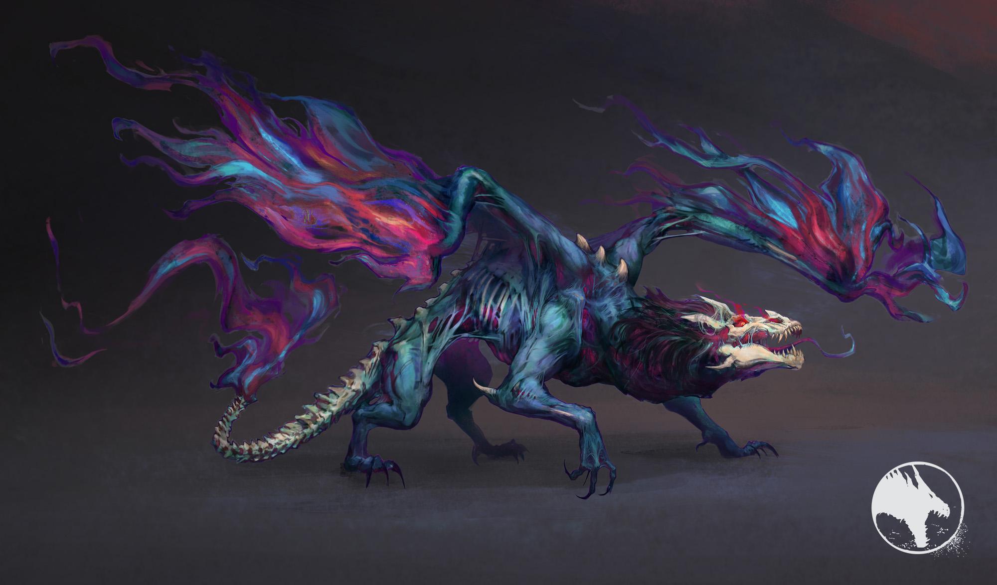 Duskfall Festive Dragon - Concept Art