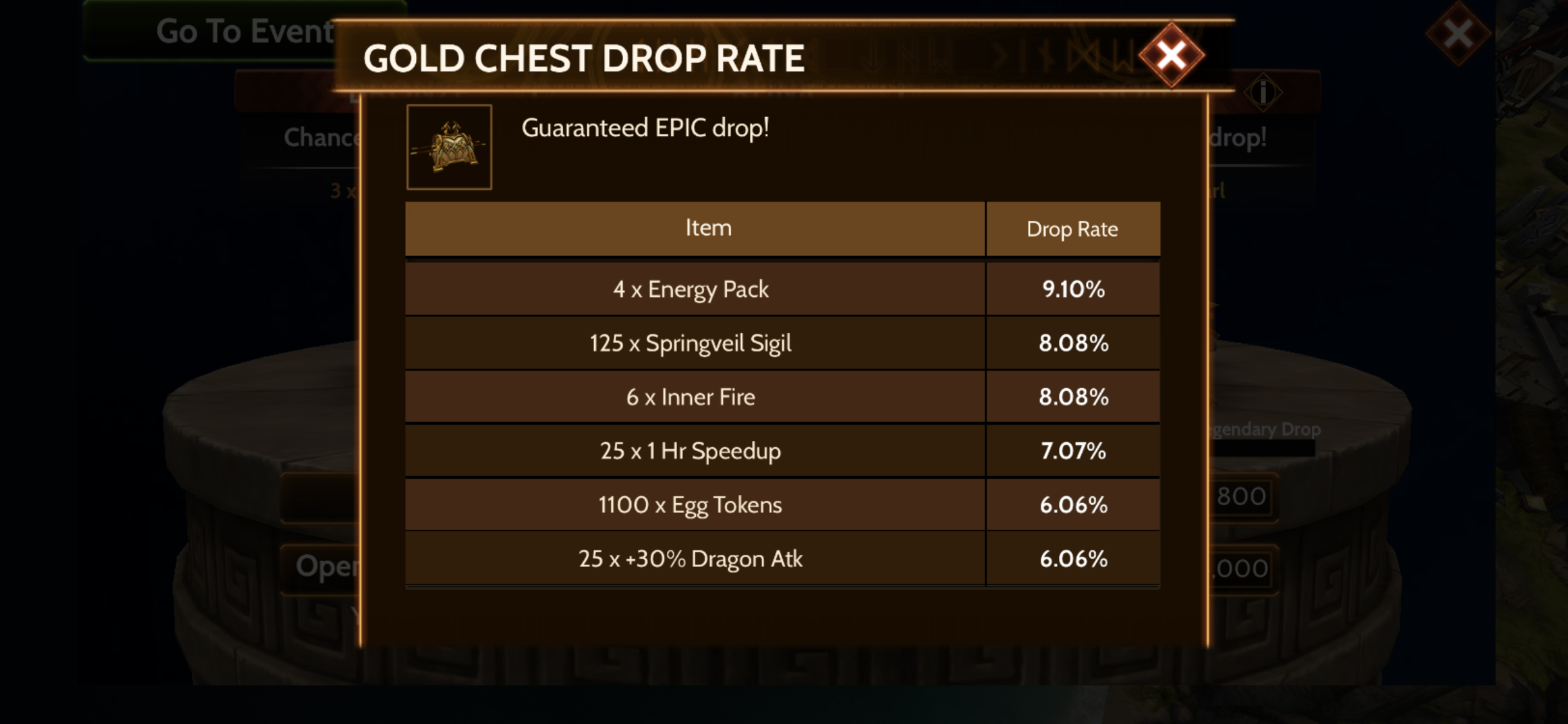 War Dragons - Chest Drop Rate