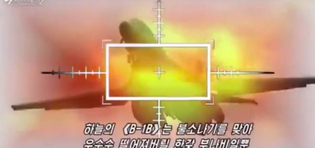 North Korea Pretends to Shoot Down a U.S. Bomber